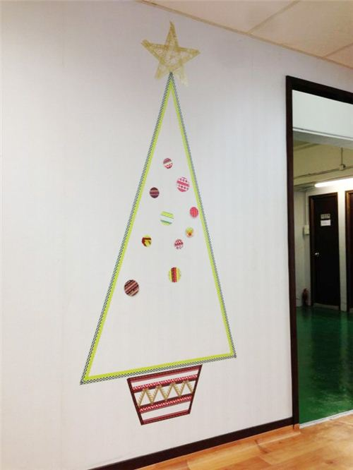 We're crafting a Washi Christmas Tree 1