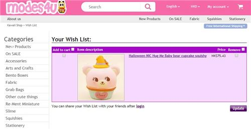 Go ahead and add items to your wish list!