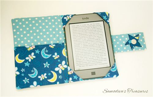 Samodiva's Treasures made a wonderful kindle cover with our Camelot fabric