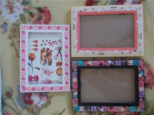Angela Orrù from Italy decorated some picture frames with San-X deco tapes