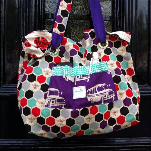 fabriekt.nl mainly used echino and Kokka fabrics for her bags