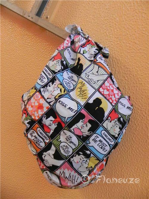 Bienvenue Chez Flaneuze uses our fabrics as Furoshiki wrapping cloths