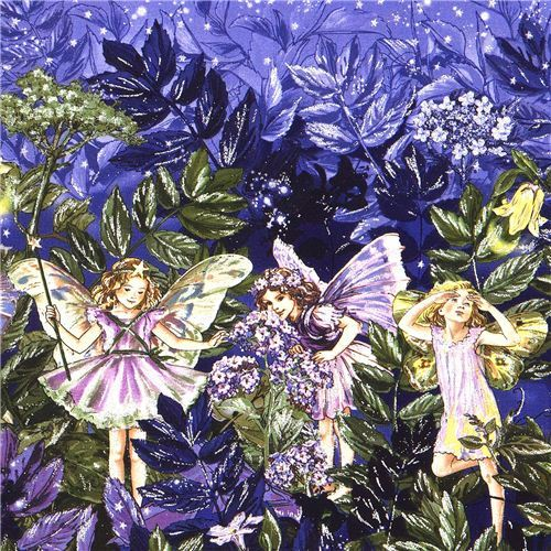 Michael Miller fabric Night Fairies starry sky