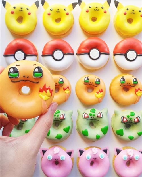 These Pokemon donuts are AWESOME! From @vickiee_yo on Instagram.