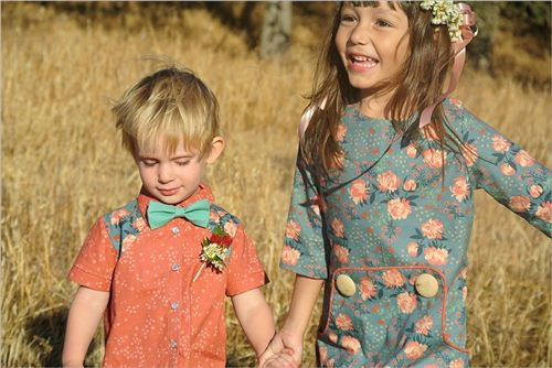 amazing children apparel made with Acorn Trail fabrics, photo from birch.com