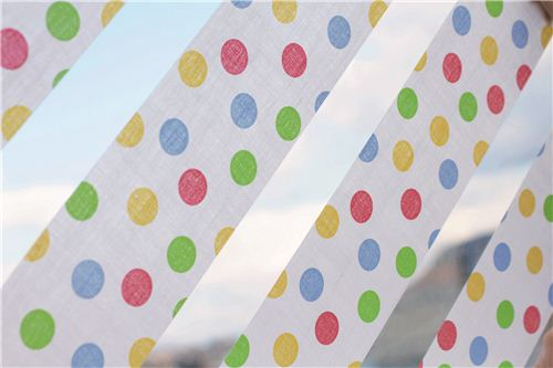colorful mt Washi tape window decoration