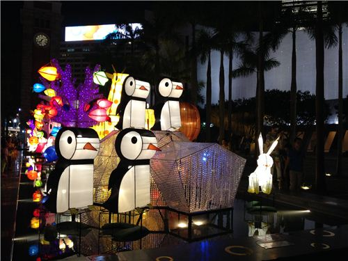 Penguin lanterns