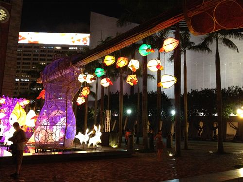 Beautiful Lantern carnival in Tsim Sha Tsui