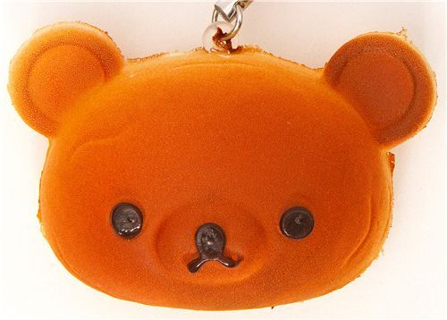 Rilakkuma bear bread squishy cellphone charm