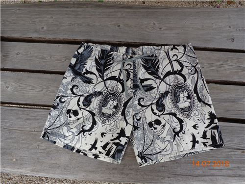 This pair of shorts was made with Alexander Henry fabric
