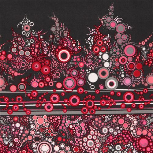 dark grey pink white Robert Kaufman colorful circle fabric Sweet