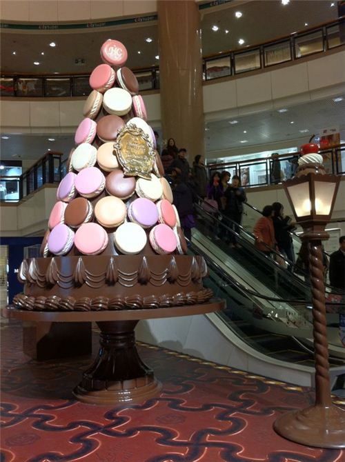 Tasty and huge macaroon tree