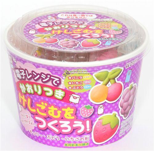 cute DIY eraser making kit Fruits from Japan