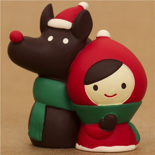 Little Red Riding Hood with wolf Christmas figure Japan