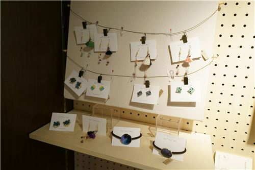 Gorgeous earrings on display