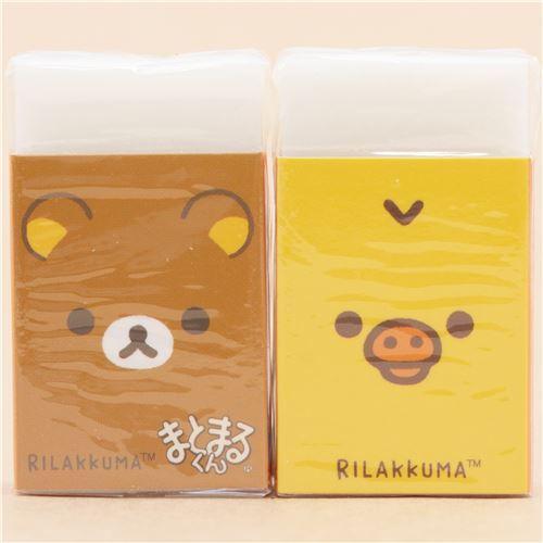 Rilakkuma and Kiiroitori eraser by San-X