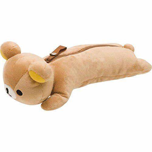 brown Rilakkuma plush toy with zipper