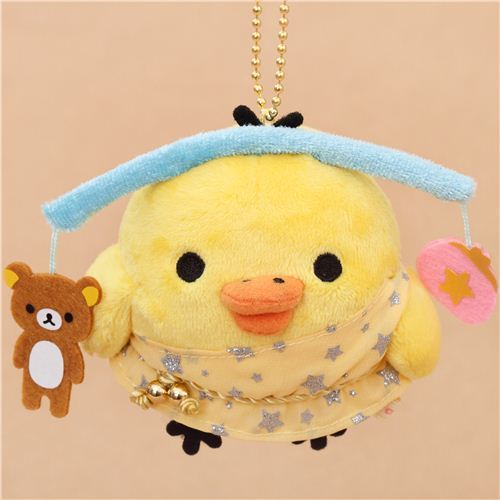 zodiac sign Rilakkuma yellow chick as Libra plush toy charm