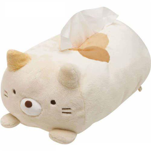 Sumikkogurashi animal shy cat plush tissue box
