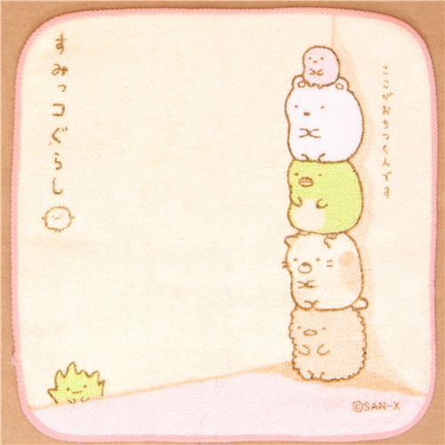 Sumikkogurashi towel shy animals in corner