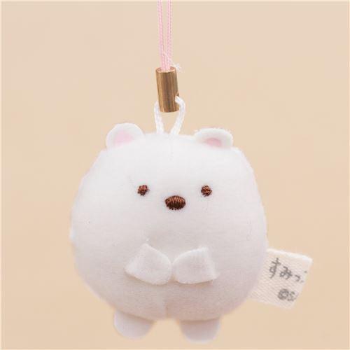 mini Sumikkogurashi bear cute plush charm by San-X