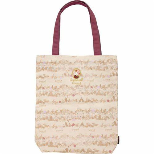 cute Sentimental Circus natural color canvas tote bag by San-X from Japan