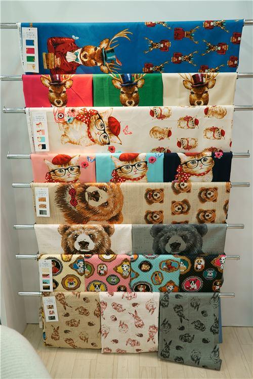 Trefle fabrics on display