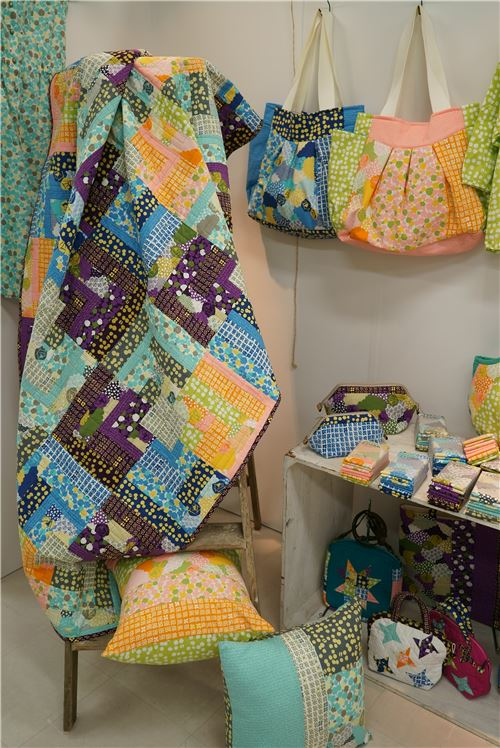 What a great blanket made of Irome fabrics!