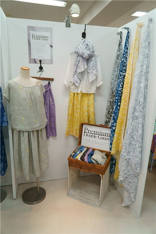 Premium double gauze fabrics on show