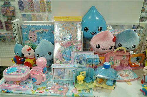 Colorful plush toys
