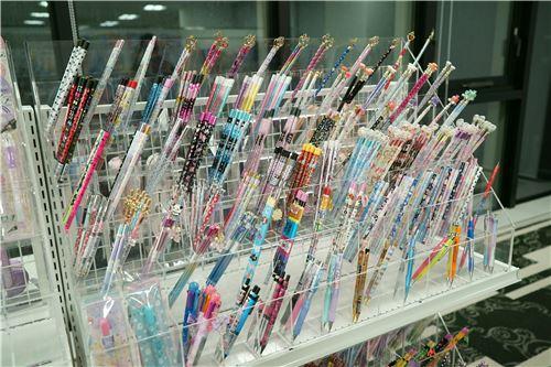 Lots of pencils on display